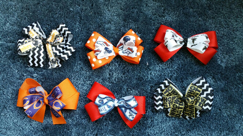 PRO FOOTBALL DOUBLE HAIRBOW