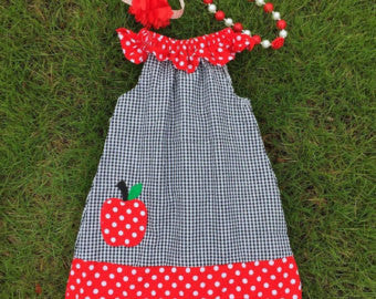 Back to School Apple Dress