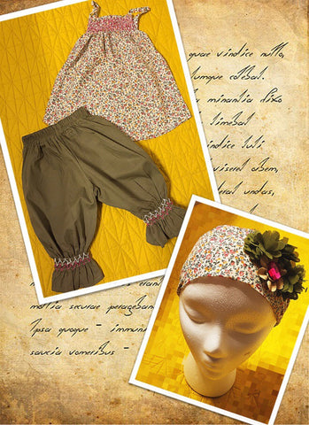 Army green floral capri set