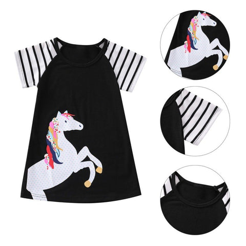 Black Unicorn Dress