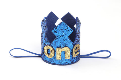 1st Birthday Crown in Blue