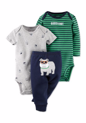 3 piece Bulldog Pants Set