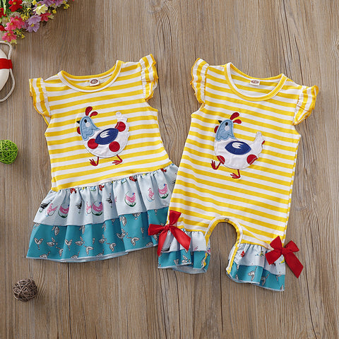 Yellow Chicken Romper or Dress