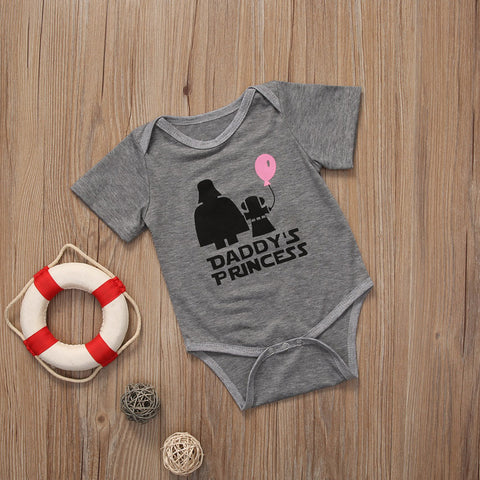 Gray Daddy's Princess Bodysuit