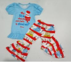 "Dr Seuess ""Why Fit In"" Pants Set"