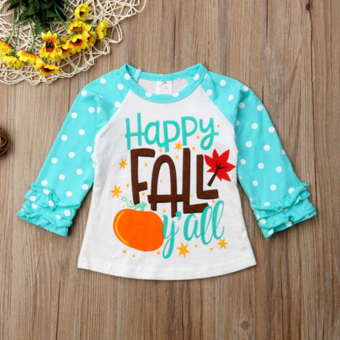 Fall Y'all Ruffle Shirt