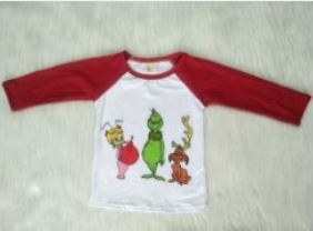 Grinch Baseball Style Shirt