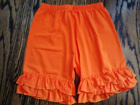 Solid Color Ruffled Shorts