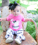Pink Deer Ruffled Pants Set