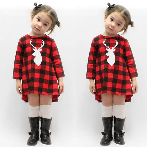 Plaid Deer Dress