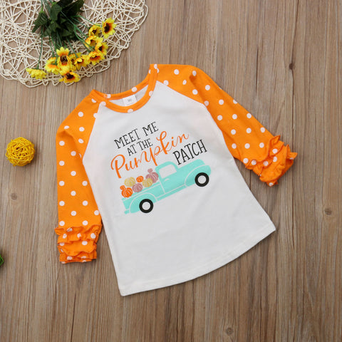Pumpkin Patch Ruffle Shirt