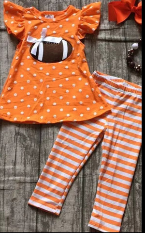 Orange Football Pants Set