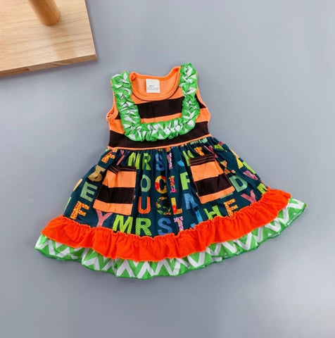 Green Alphabet Dress