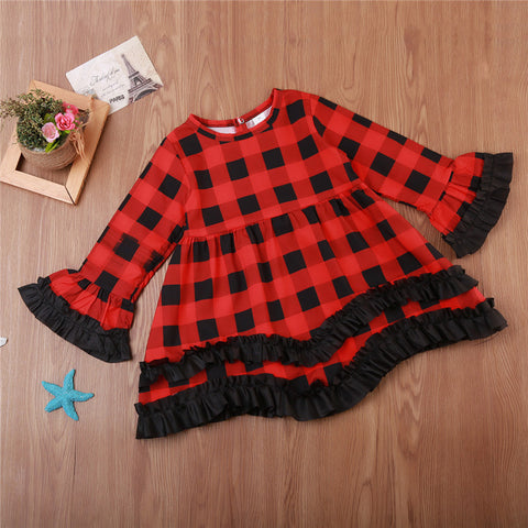 Red & Black Tartan Dress