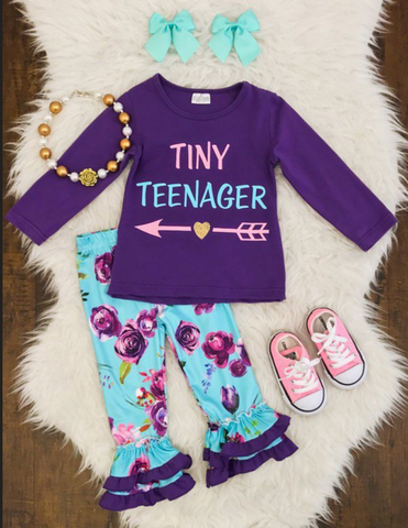 Tiny Teenager Ruffled Pants Set