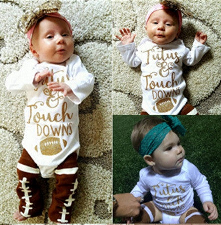 Tutus and Touchdowns Onesie