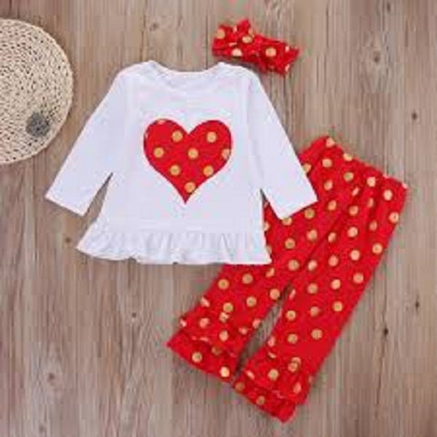 Red Heart Valentine's Day 3 piece Set
