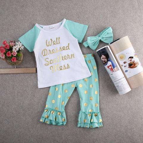 Well Dressed Southern Mess Pants Set