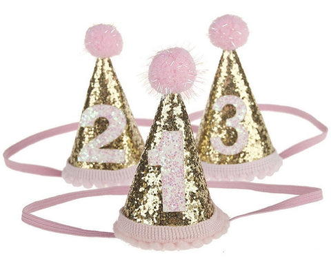 Birthday Hat for 1st, 2nd, and 3rd birthdays