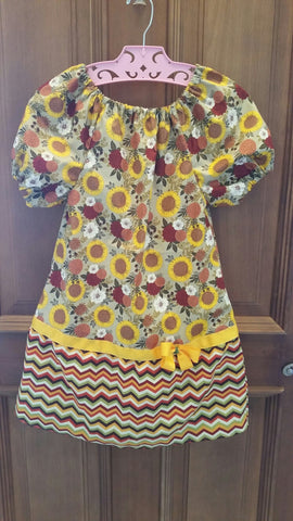 Golden Sunflower Autumn/Thanksgiving Dress