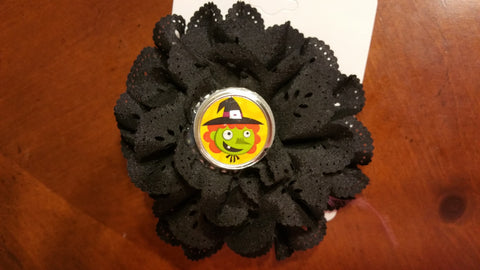 Halloween Lacy Flower with Charm Embellishment