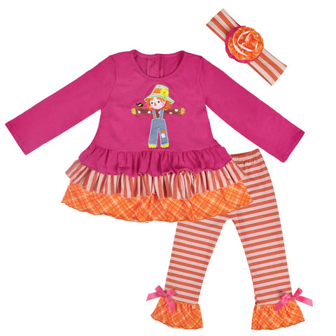 Scarecrow Autumn Pant Set or Romper