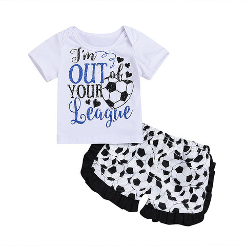 Out of Your League Soccer Shorts Set