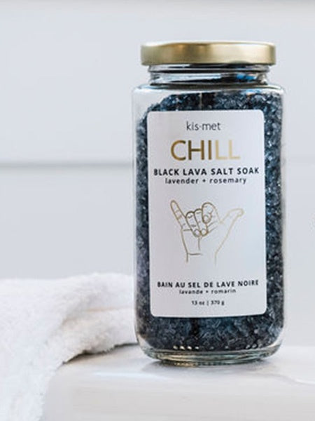 Chill  - Black Lava Salt Soak