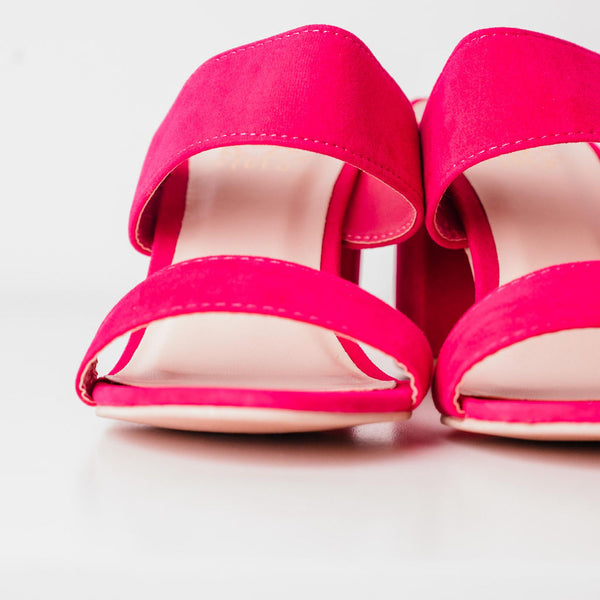 The Hamptons Heel - Hot Pink