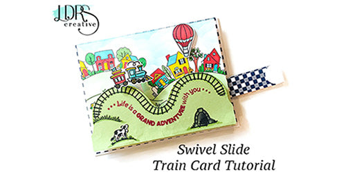 Swivel Slide Train Card