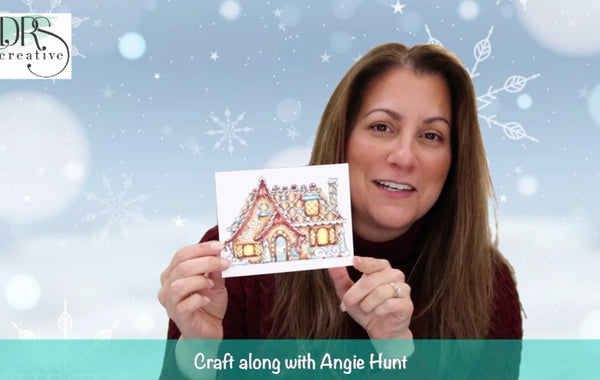 Craft Along with Angie Hunt - Gingerbread House Color Class