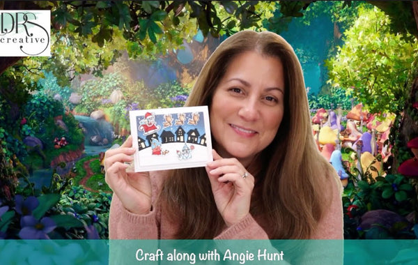 Craft Along with Angie Hunt - Holiday Gnomes Christmas Card