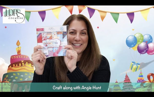 Craft Along with Angie Hunt - HSN Stacked Wave Sentiments Stamp and Die Set