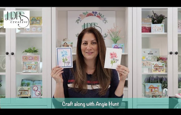 Craft Along with Angie Hunt - Watercolored Pelargonium