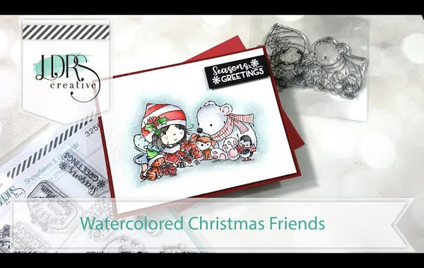 Watercolored Christmas Friends