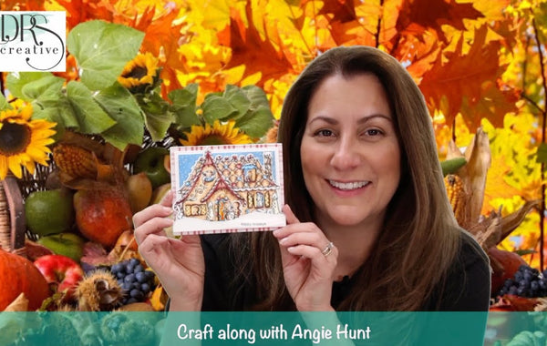 Craft Along with Angie Hunt - Gingerbread House Interactive Card
