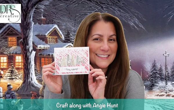 Craft Along with Angie Hunt - Stencil a Holiday Background