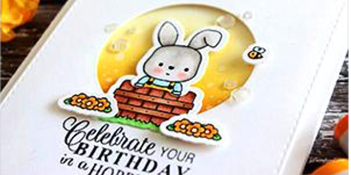 Hoppy Birthday - Handmade greeting card