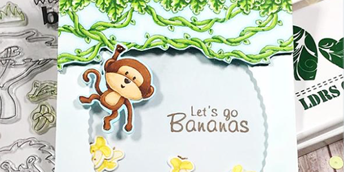 Monkey Shaker Card - featuring 'Safari' set