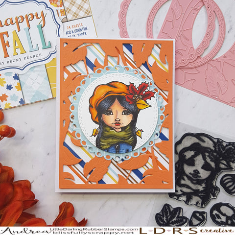 Autumn Girl Card by Andrea Shell | Stamps and Dies by LDRS Creative