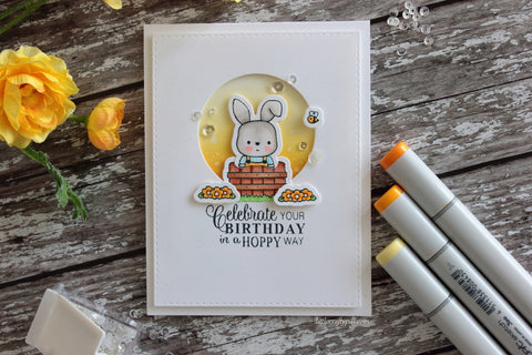 Hoppy birthday card and video ldrs creative this set includes all of the stamps and dies needed to create the sweetest of scenes with all of the bunny friends they can easily be used for all kinds of bookmarktalkfo Images