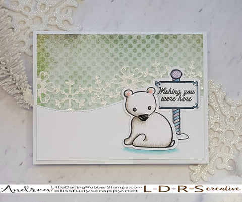 Wishing You Were Here card by Andrea Shell | Stamps and Dies by LDRS Creative