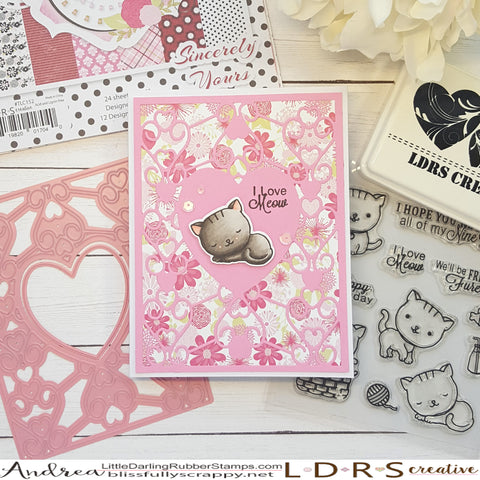 Sweet Kitten Card by Andrea Shell | Kitten Caboodle stamps from LDRS Creative