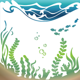 Under the Sea - 6x6 Stencil - Wholesale
