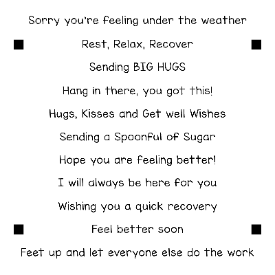 Get Well 4x4 Sentiment Stack