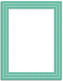 A2 Stitched Layered Card Toppers Die Set - Wholesale