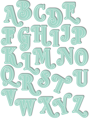 Sophie Alpha Uppercase Die Set