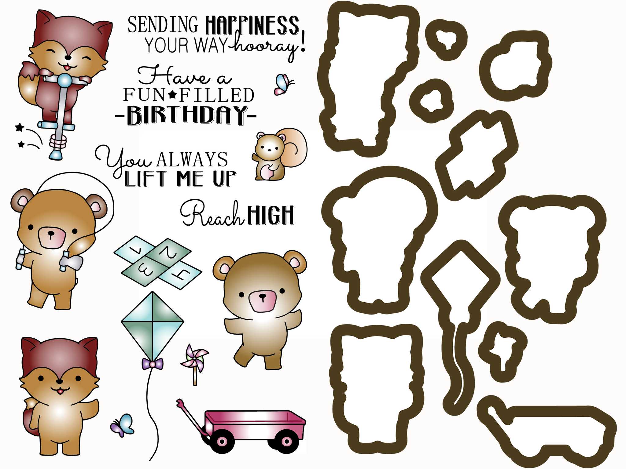 Outdoor Play - Critter Stamps & Dies