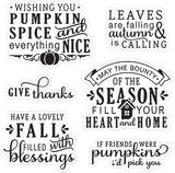 Happy Fall Sentiments