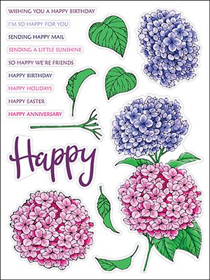 Hydrangeas stamp set